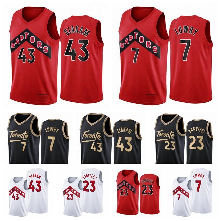 NCAA 2020 TORONTORaptoresHombres Pascal Siakam Fred Vanvleet Kyle Lowry 2020/21 Swingman City Basketball Jersey Blanco Nuevo uniforme