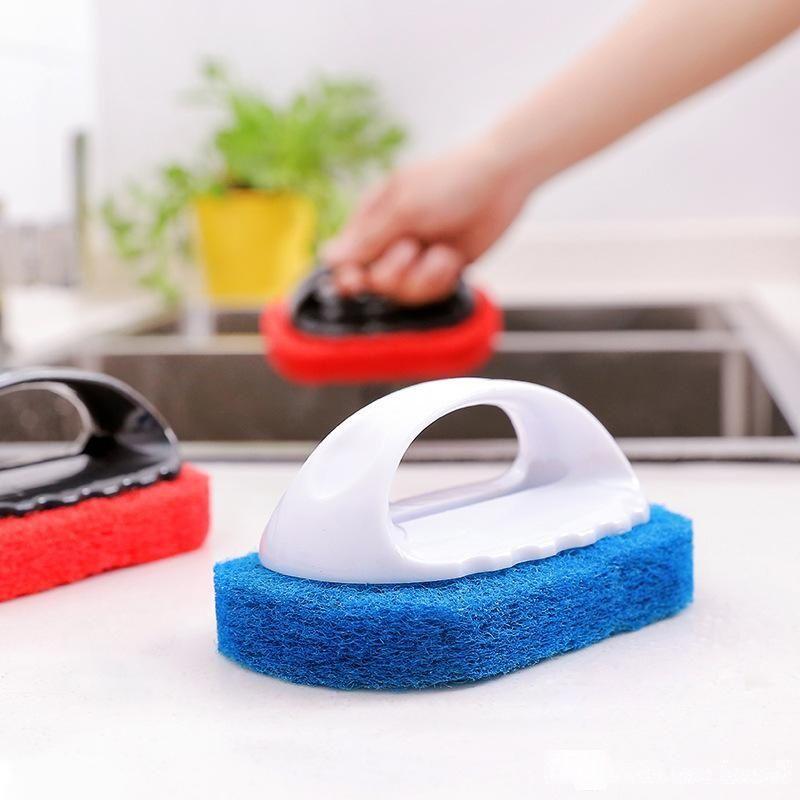 Handy Magic Sponge Eraser Bath Brush Tiles Wash Pot Clean Brush Sponge Bathroom Accessories Kitchen Cleaning Brush