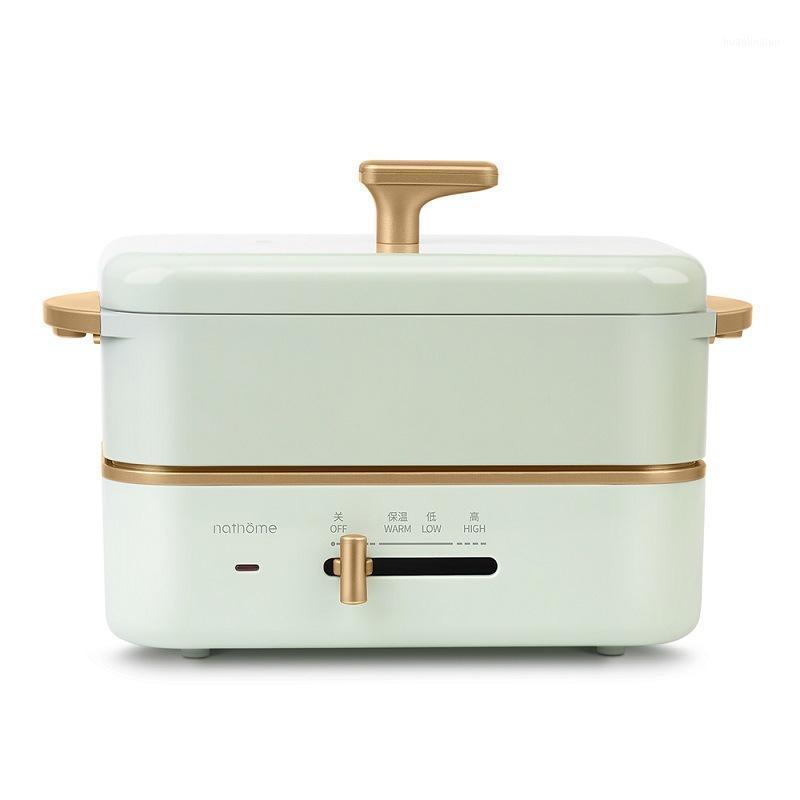 220 فولت وعاء الطبخ الكهربائية المحمولة الكهربائية الغداء مربع سبليت نوع طباخ الأرز multicooker hotpot مقلاة المقلي عموم 0.8L1