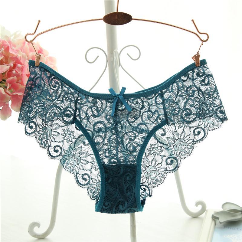 Talla grande S / XL Moda de alta calidad Bragas de mujer de alta calidad transparente ropa interior Mujeres encaje calzoncillos suaves sexy lencería
