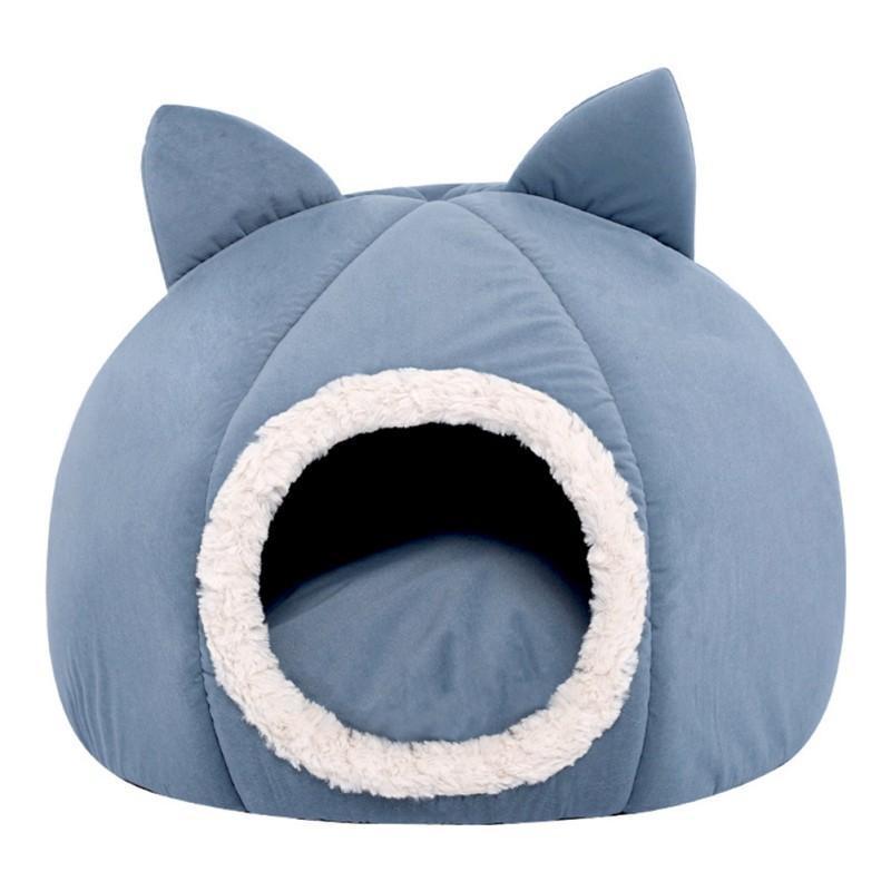 Nido de gato Espacio de bola cerrada Tela de franela cálida Cómodo suave BBBETRIBLE BBBETRIBLE FUERTE DURANTE DURANTES DURANTES SOLICITUD DE PET