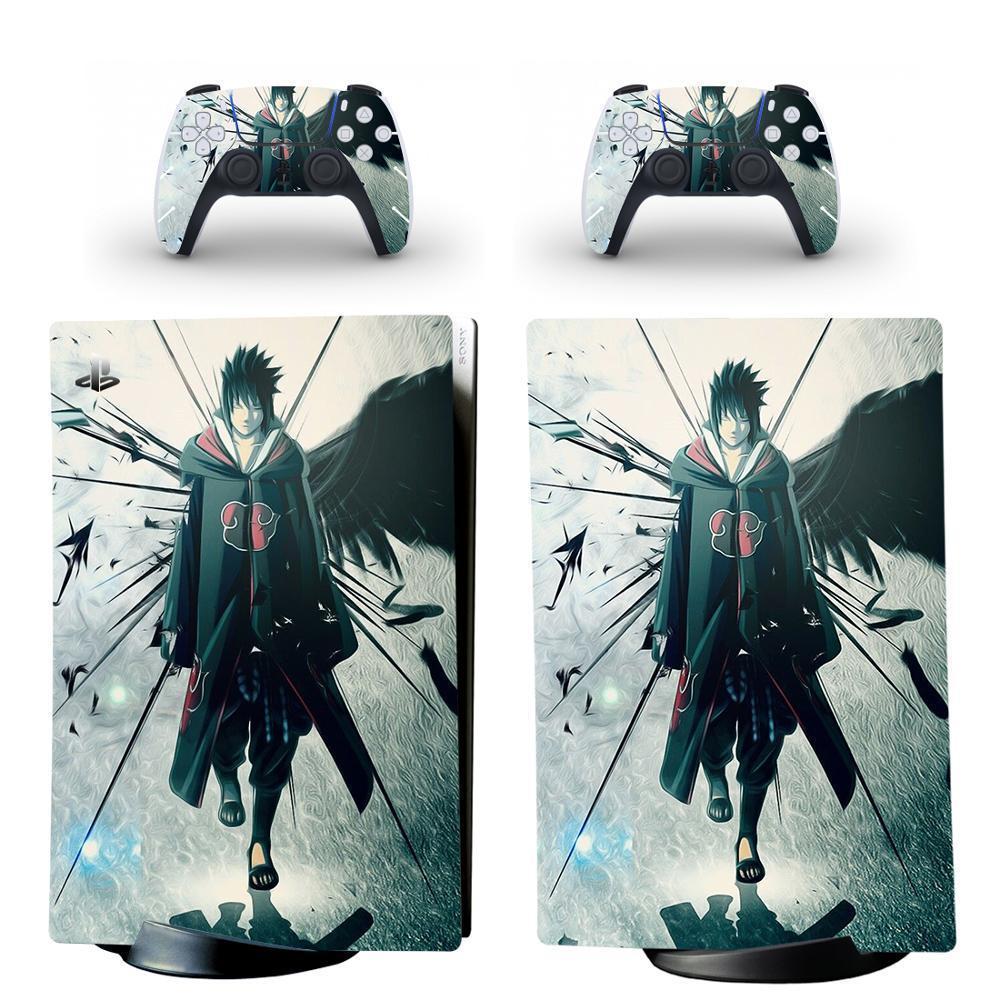 Naruto PS5 Edição Digital Adesivo De Pele Decalque Capa Para PlayStation 5 Console e 2 Controladores PS5 Pele Adesivo Vinil Y1201