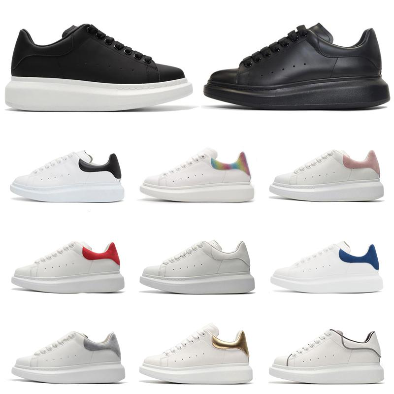 Cheap designer platform sneakers men women fashion luxury shoes black white rainbow red suede leather mens trainer casual sports shoe
