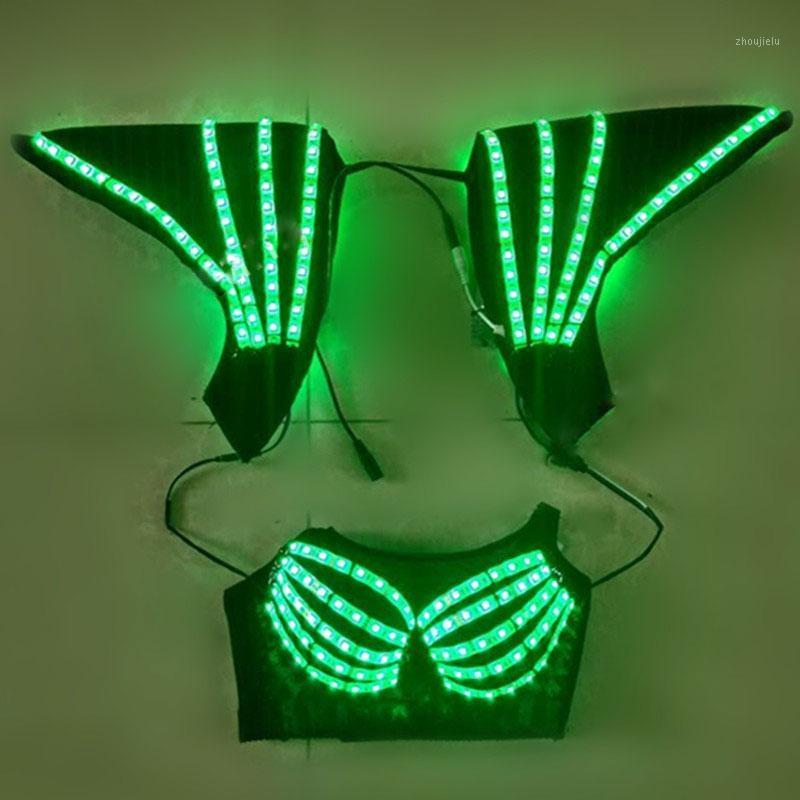 LED-Lichtkorsett-Weste-Weste-Nightclub-Bar DJ DS Gogo-Tanz-Bühne Performance Kostüm Party Festival Carnival Outfit1