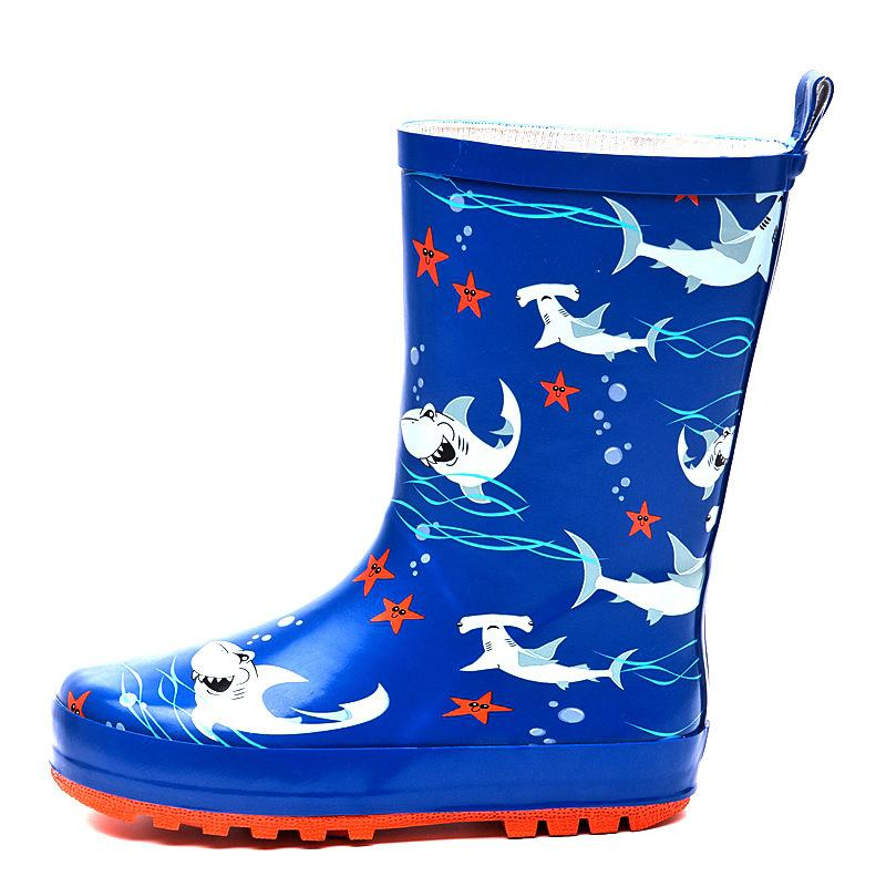 Dinosaurio lluvia grandes niños rain botes para niños pequeños kindergarten niños niñas sirena tiburón impermeable lluvioso zapatos de juego