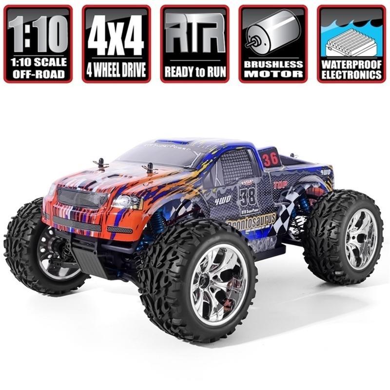 HSP RC Auto 1/10 Waage 4WD AUS RAST MONSTER Truck 94111PRO Elektrische Kraft bürstenlose Motorliko-Batterie Hochgeschwindigkeits-Hobby-Fahrzeug 201223