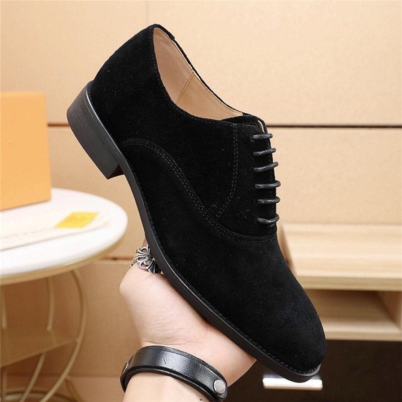 Sapatos de vestido masculino moda homens de couro business sapatos liso preto marrom respirante masculino homens formal trabalhando sapatos grandes tamanho grande 38-4