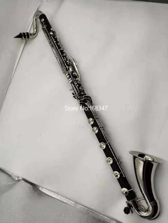 Yepyeni Margewate Düşük C Klarnet Gümüş Kaplama Tuşları Bas Klarnet Profesyonel Müzik Enstrüman Durumda Ücretsiz Kargo