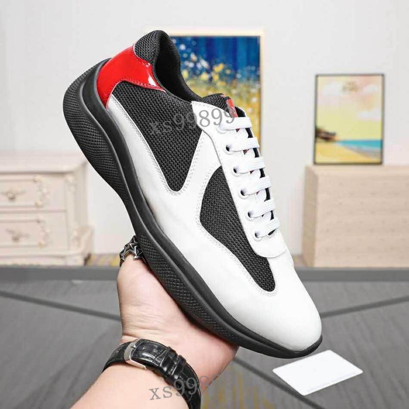 Prada Shoes أحذية رجالية أزياء رجالية أحذية بروجيتستيست أحذية رياضية براءات الاختراع والجلود والنايلون Luxe أحذية رياضية