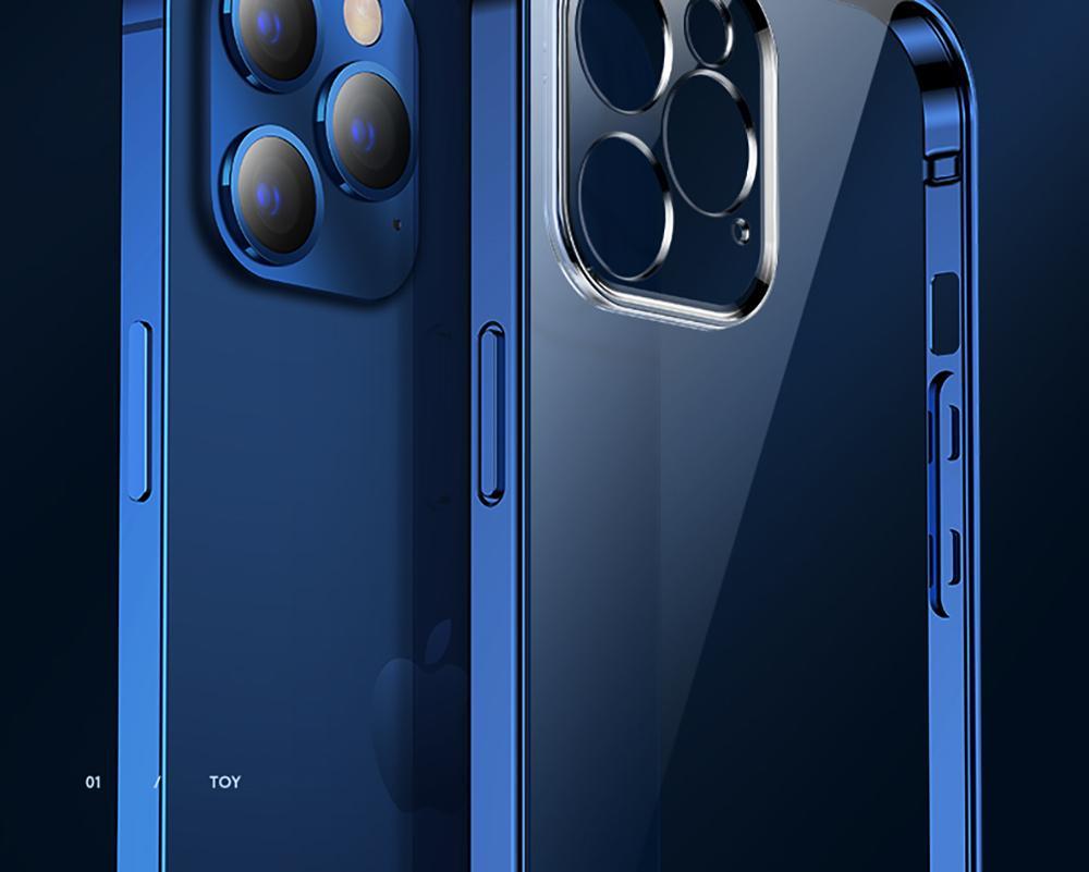 iPhone 12 Pro Max 12 미니 PC + TPU Shockproof 전체 렌즈 보호 커버를위한 클리어 케이스 아이폰 12 분 투명 케이스