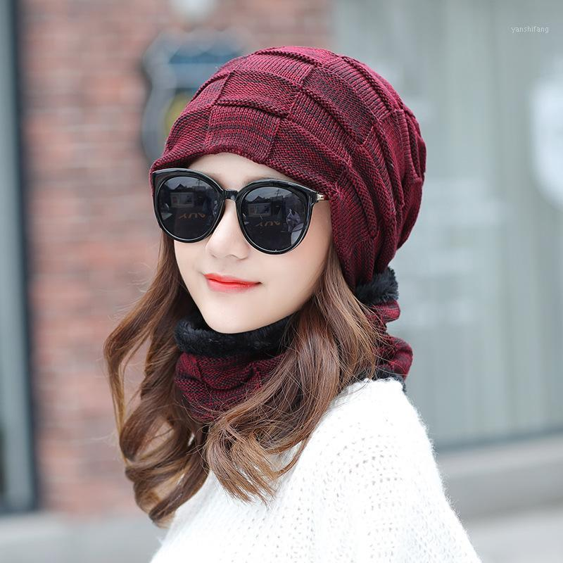 Chapéus de inverno para mulheres chapéu de malha chapéu de inverno chapéu lençol cadigos gorro macio crânio quente baggy tampa máscara gorros1