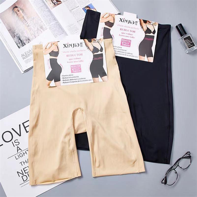 Bel şekillendirme Spanx Vücut Shapewear Dikişsiz Zayıflama Iç Çamaşırı Yüksek Kadın Kısa Tayt Boxer Y200706