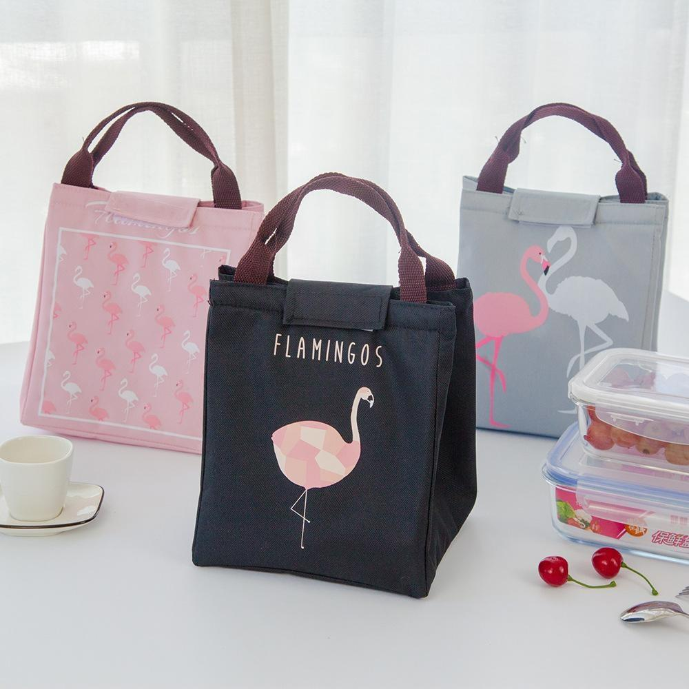Hoomall isoliert Neopren-Lunchbox Oxford Flamingo Tragbares Picknick-Lunchtasche Tote Handtasche Container Küche Gourmet Beutel