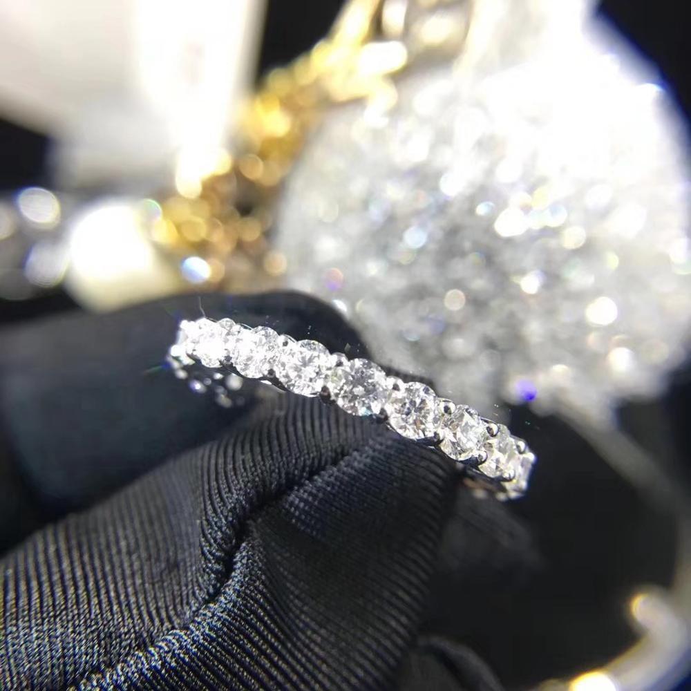 زوجين الخلود 4 ملليمتر مختبر الماس الدائري 925 فضة بيجو الاشتباك الزفاف الفرقة خواتم للنساء الرجال الجميلة حزب المجوهرات