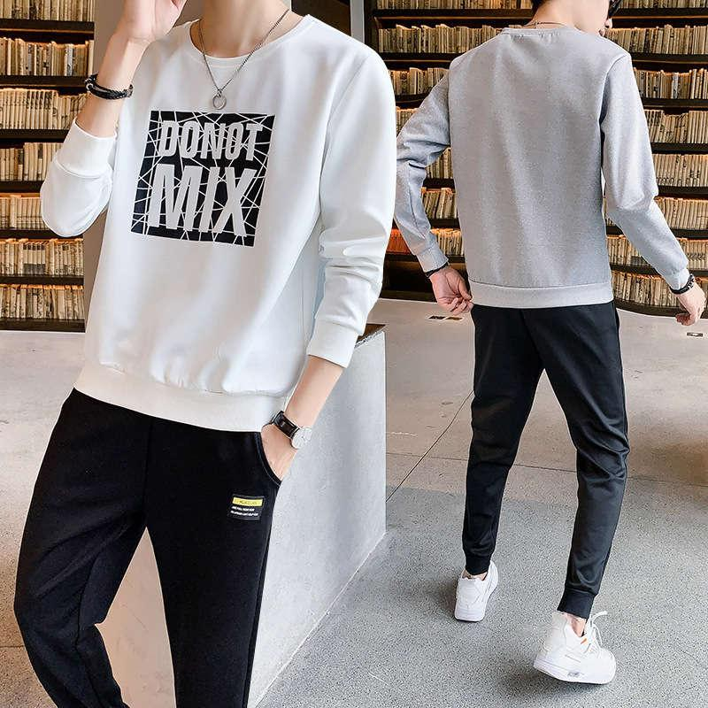 Automne 2020 costume de deux pièces pour hommes Sportswear Pantalon Casual Sweater Set 702