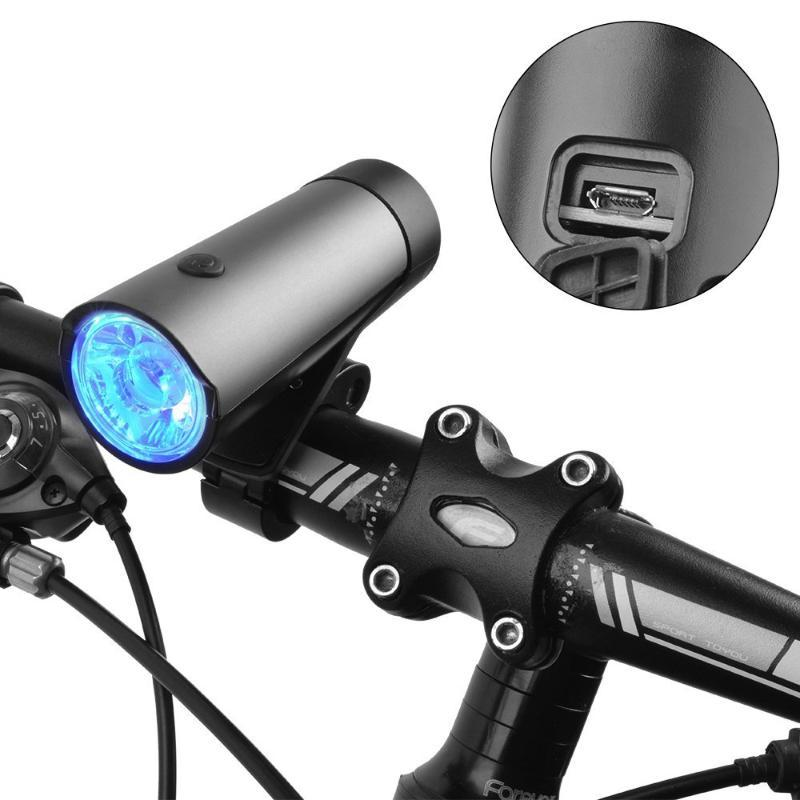 1pc Bicycle Light Mtb Bike 2600mah Front Lamp Headlight Led Lights Waterproof Usb Recharge Mountain Bike Cycling Accessories