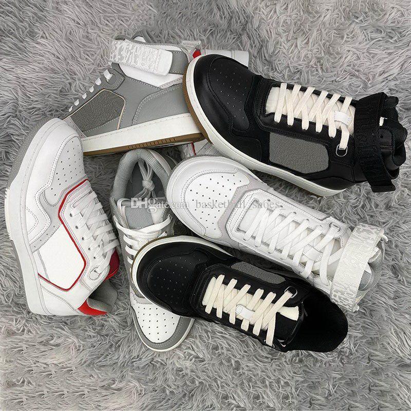Luxurys Homens Oblíquos Sapatilhas Designers Sapatos Mulheres High Low Mens Trainers Top Quality Genuíno Couro Ao Ar Livre Coleção
