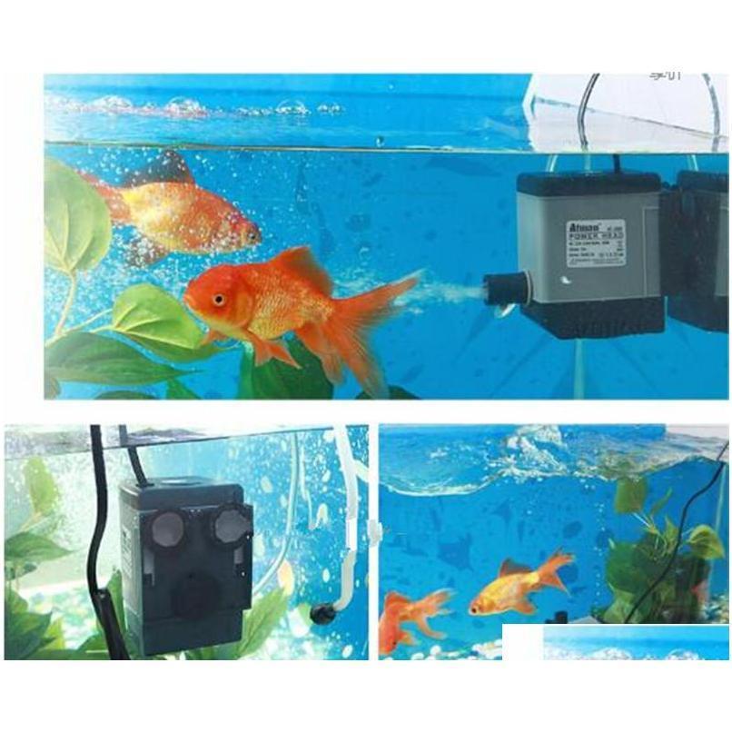 Atman At-302 6.5w 450l/h Aquarium Fish Tank Water Pump Poweheader Submersible Pump Liquid Filter Various qylxrJ toys2010