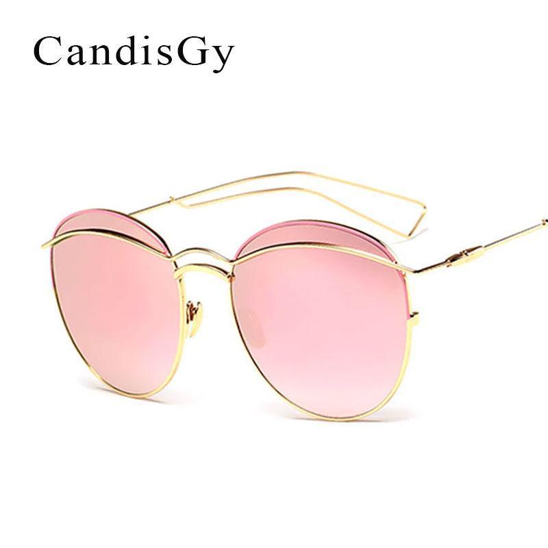 Круглый модный бренд дизайнер женщины солнцезащитные очки леди UV400 круг металлический каркас солнцезащитные очки женские