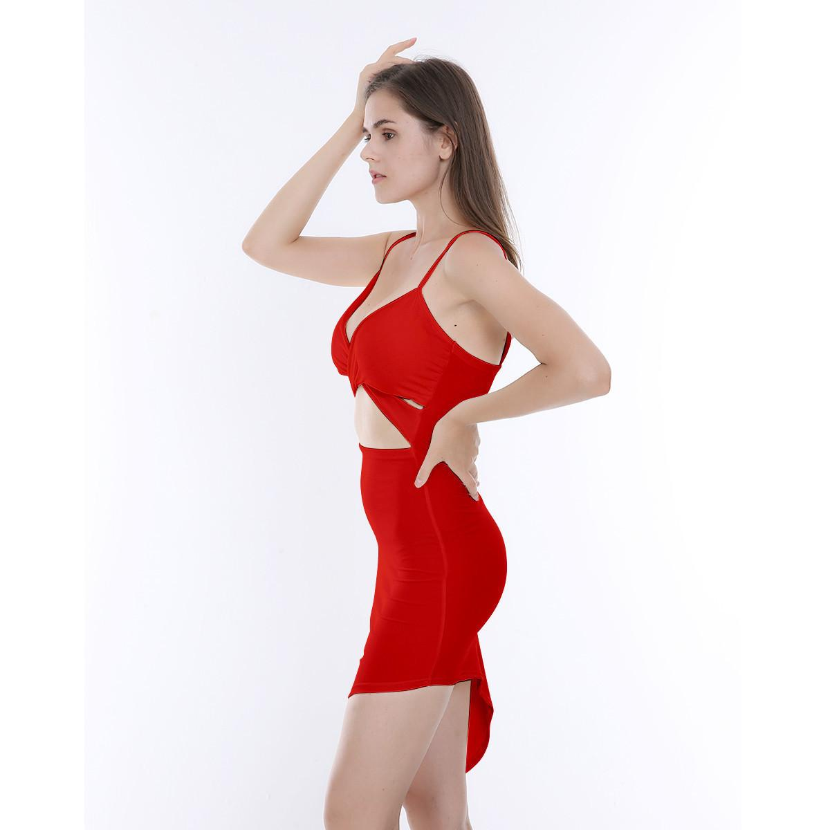 Femmes Mode Dressexy Sling Creux Hip NightClub Robe 2 Couleurs NGW6