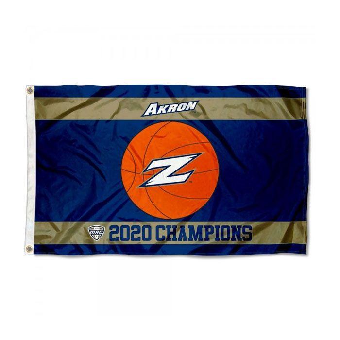 Akron Zips 2020 Campeones de baloncesto Champions Flag NCAA bandera 3x5ft Doble costura decoración banner 90x150cm equipo deportivo envío gratis