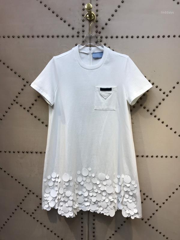 Италия Качество Milano мода летняя взлетно-посадочная полоса 100% хлопок готовы носить коллекцию платье1