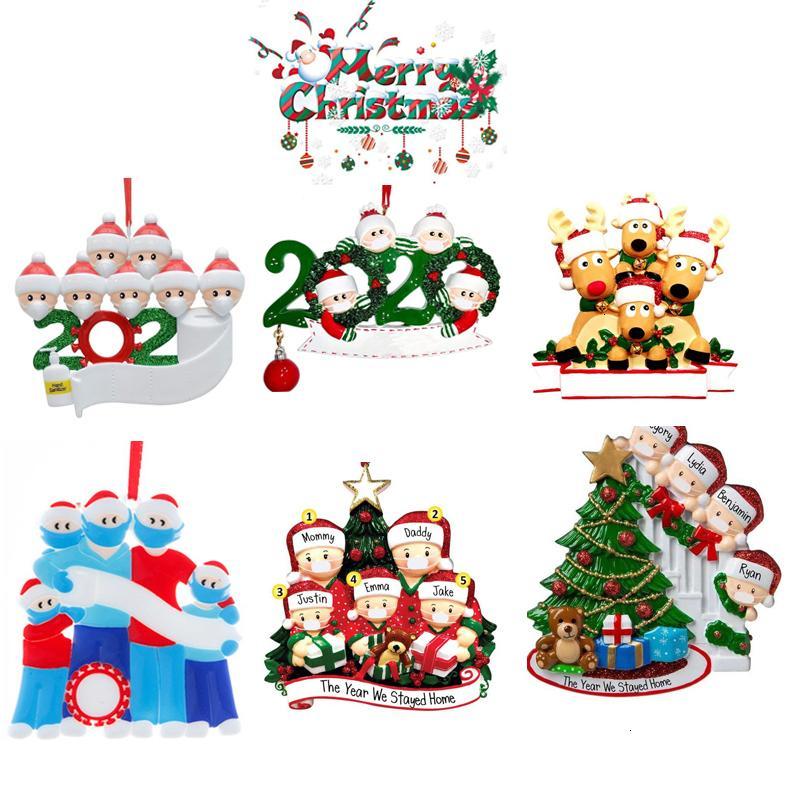 2020 DIY ornamento de natal sobrevivente 6 estilo saudação família quarentena xmas festa de aniversário pandemia distancia social nfqn2