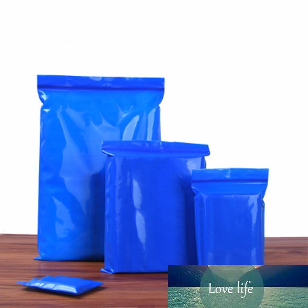 100pcs / lot borse di stoccaggio da cucina Sealinato cibo sacchetti di plastica per imballaggio cibo forniture industriali abbigliamento blu