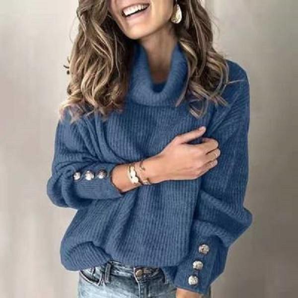 2020Wisch grenzüberschreitender Herbst- und Winter Europa und der Vereinigte Staaten Außenhandel Damen Pullover High Collar Pullover Top Speak