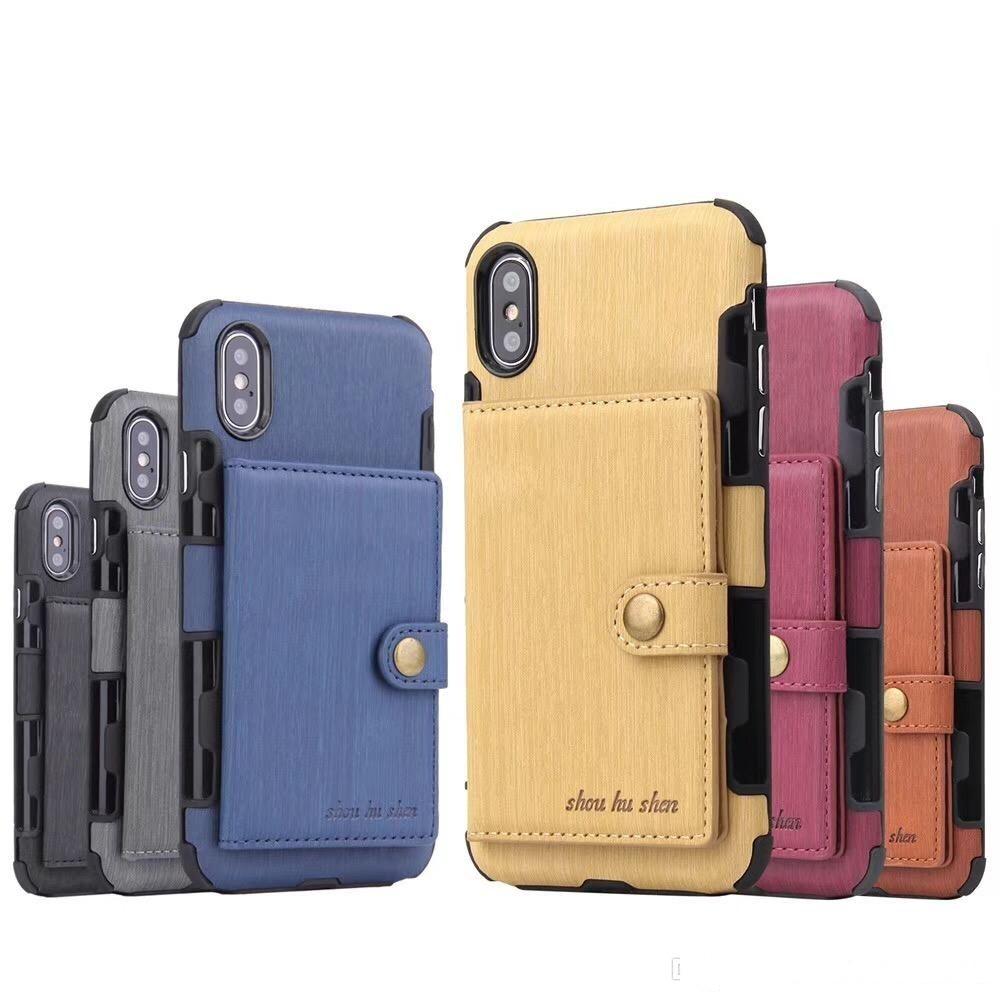 Новые чехлы для телефонов для iPhonexs XR Anti Short Phone Shell Multi Card Plot Mated Piret для iPhone 6 / 7/8 / x / xs / xr / xs max