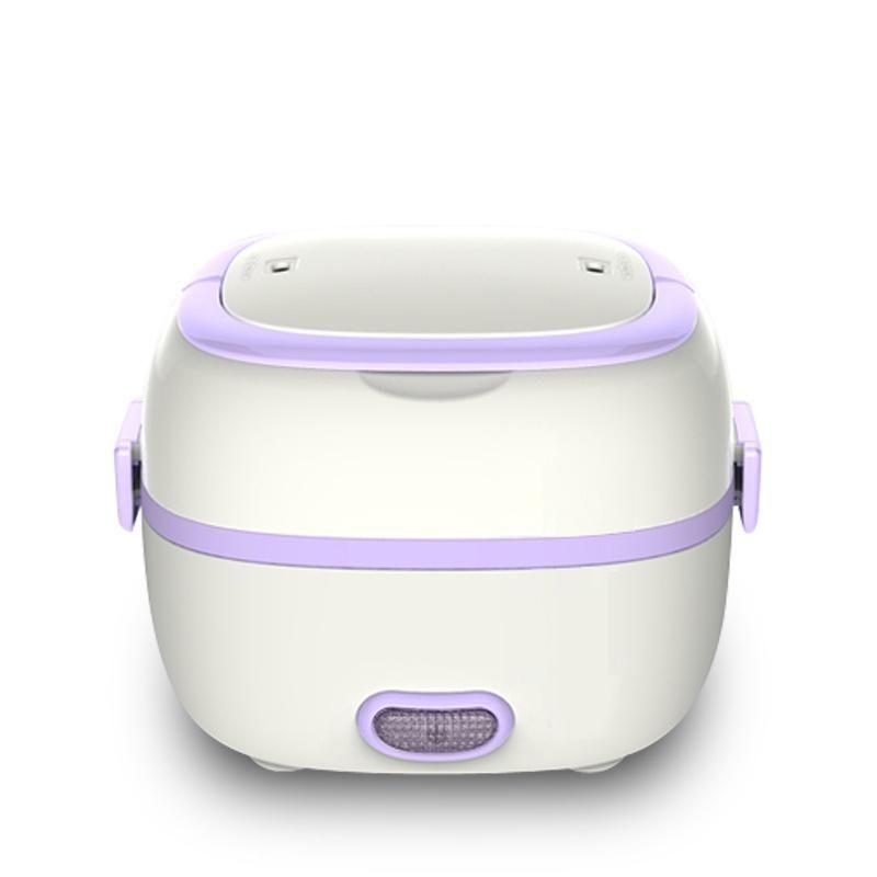 Mini boîte à lunch chauffant chauffée de riz Cuisinière thermique portable 2 couches vapeur cuisson cuisson repas repas