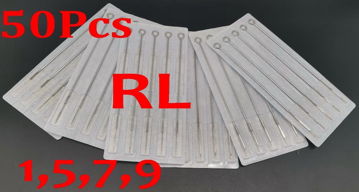 DROP Livraison 50PCS Pack 1rL 5RL 7RL 9RL 9RL Aiguilles à tatouage stérile assorties