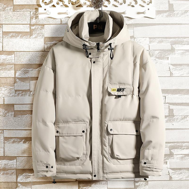 Los hombres parka abrigos de invierno para hombre 2020 de la chaqueta con capucha Espesar a prueba de viento caliente de la capa Outwear la ropa grande del bolsillo de los hombres ocasionales de Abrigo 4XL