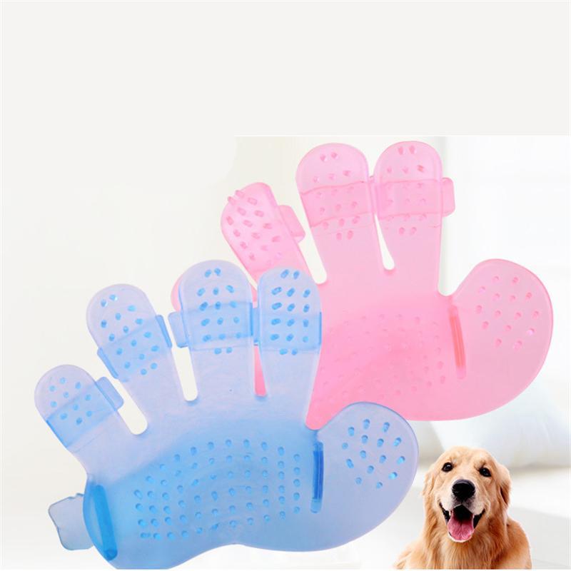 Pente do animal de estimação para cães Grooming Massagem Cinco dedo Luva Banho Escova De Cabelo Remoção Cat Beleza Limpeza Suprimentos JK2012KD