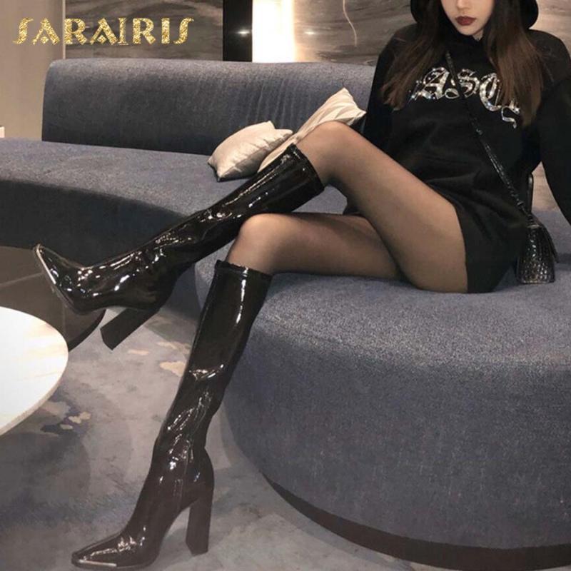 Botas sarairis 2021 diseñador moda pasarela puntiagudo puntero con cremallera instuncia zapatos sexy de moda mujer bota mujer