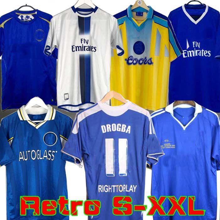 2011 Retro Soccer Jersey Lampard Torres Drogba 11 12 Final 96 97 99 Camicie da calcio Camiseta Crespo Hughes 03 05 06 Cole Zola Vialli 07 08