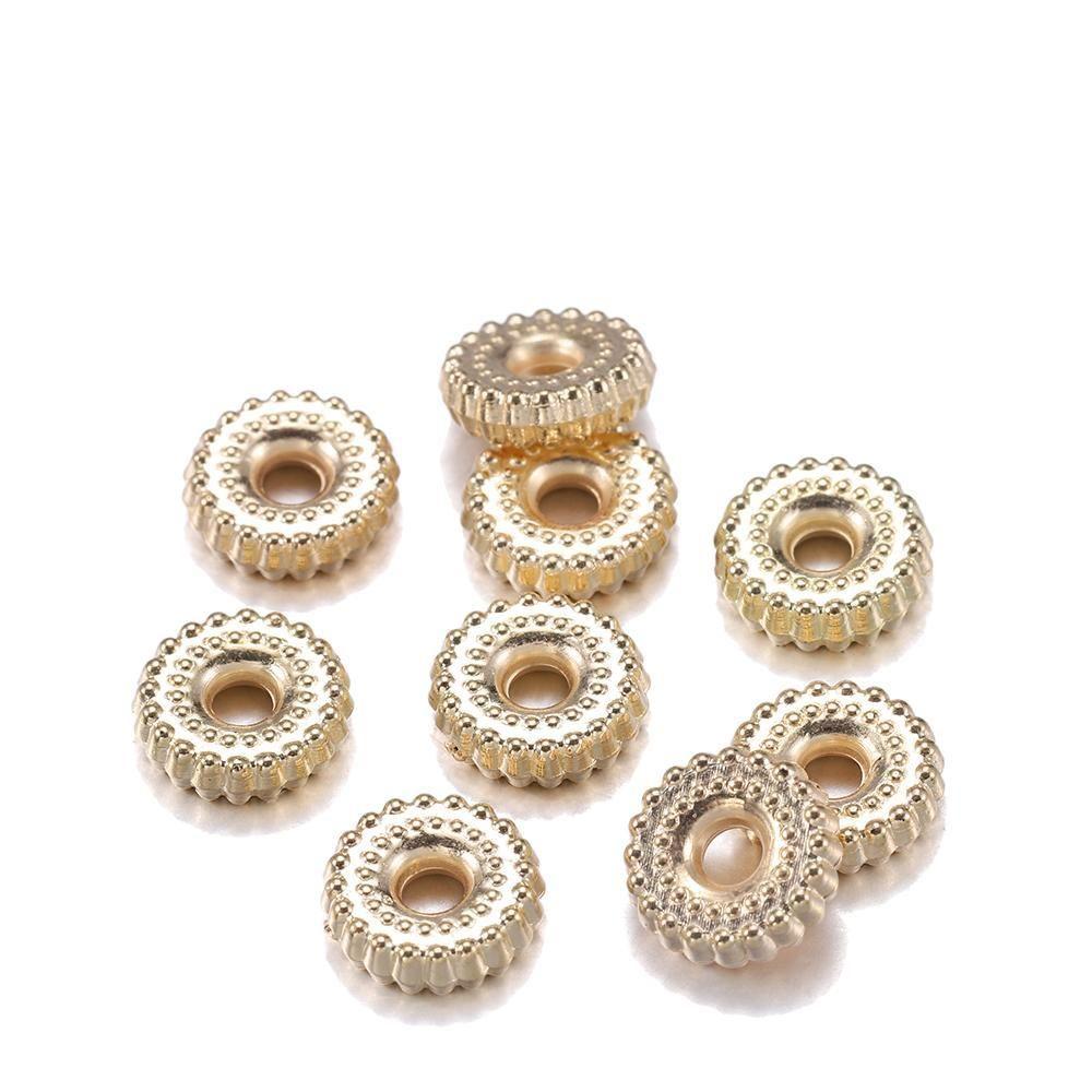 200 pcs lote ouro ródio ccb plástico charme pulseira contas de contas soltas espaçador grânulos para artigos de jóias DIY acessórios h bbyjkt