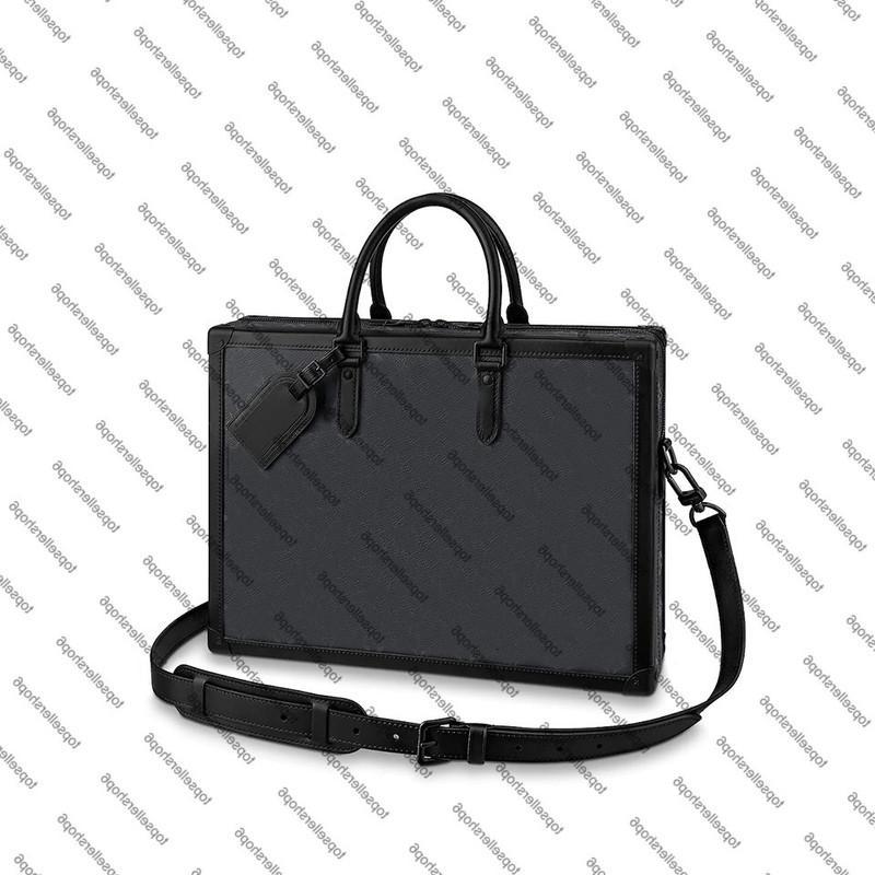 M44952 소프트 트렁크 남성 박스 메신저 지갑 엠보싱 쇠가죽 채무자 서류 가방 포트폴리오 첨부 케이스 토트 핸드백 숄더 백