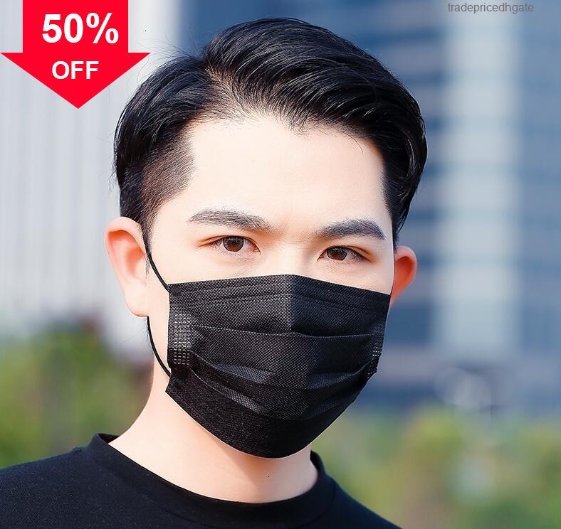 3-Ply filtration Dust Dust Dustable 09oeh Face Bling Bouche PM2.5 Masque non tissé respirant Enervoops 2q88