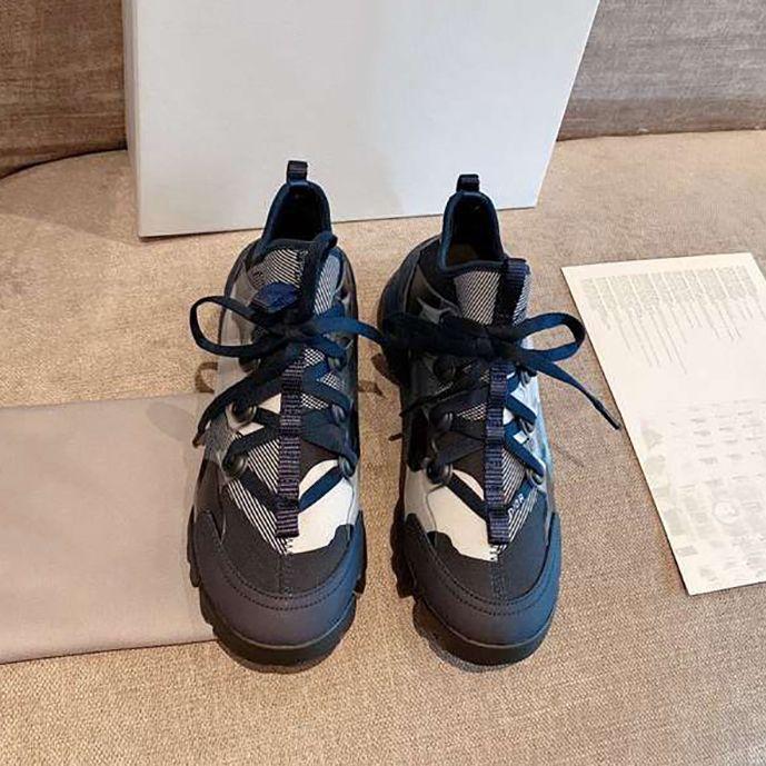 Горячая распродажа новый камуфляж цвет белый папа обувь женщин вскользь папа обувь лучшее качество с коробкой