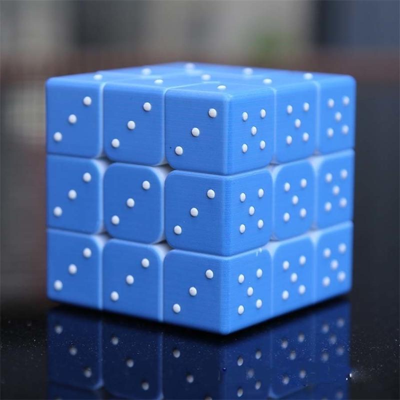 Kör Braille Parmak İzi Öğrenme Bulmaca Neo Magico Cubo 3x3x3 Eğitici Oyuncaklar Hediyeler Çocuk Yetişkinler için Y200428