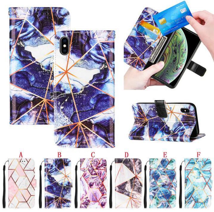 Für Samsung M31 S21 PLUS A52 A72 5G Anmerkung 20 Ultra S20 FE A12 A32 A02S Marmor Brieftasche Ledertasche Rock Flip Gurt Stand Karten Slot TELEFON TELEFON