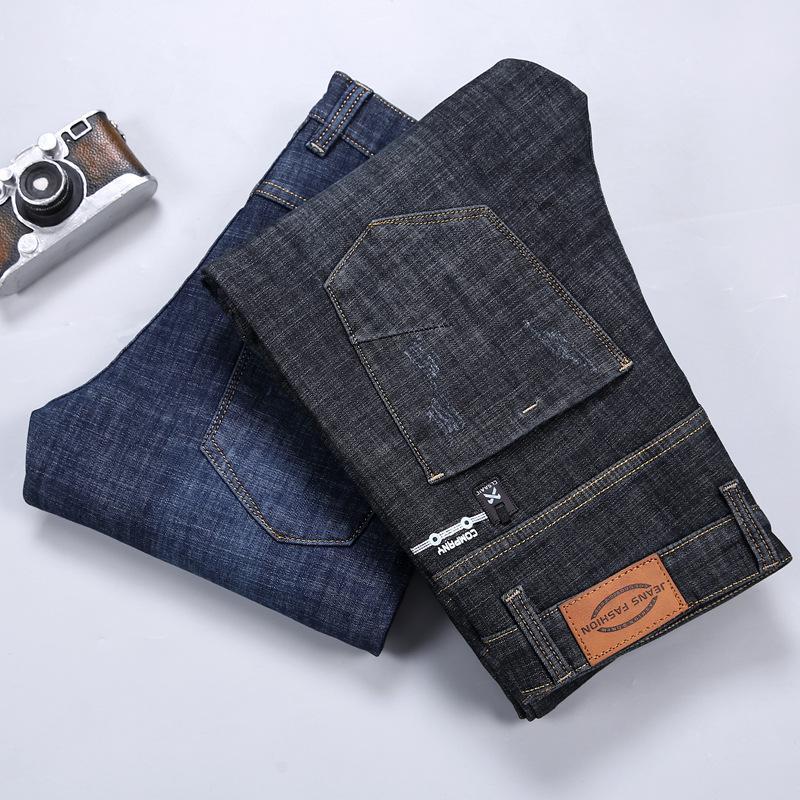 Hommes Stretch Castral Skinny épais Denim En Flanelle Jean Hommes chauds en molleton Soft Black Brand pantalon Jeans