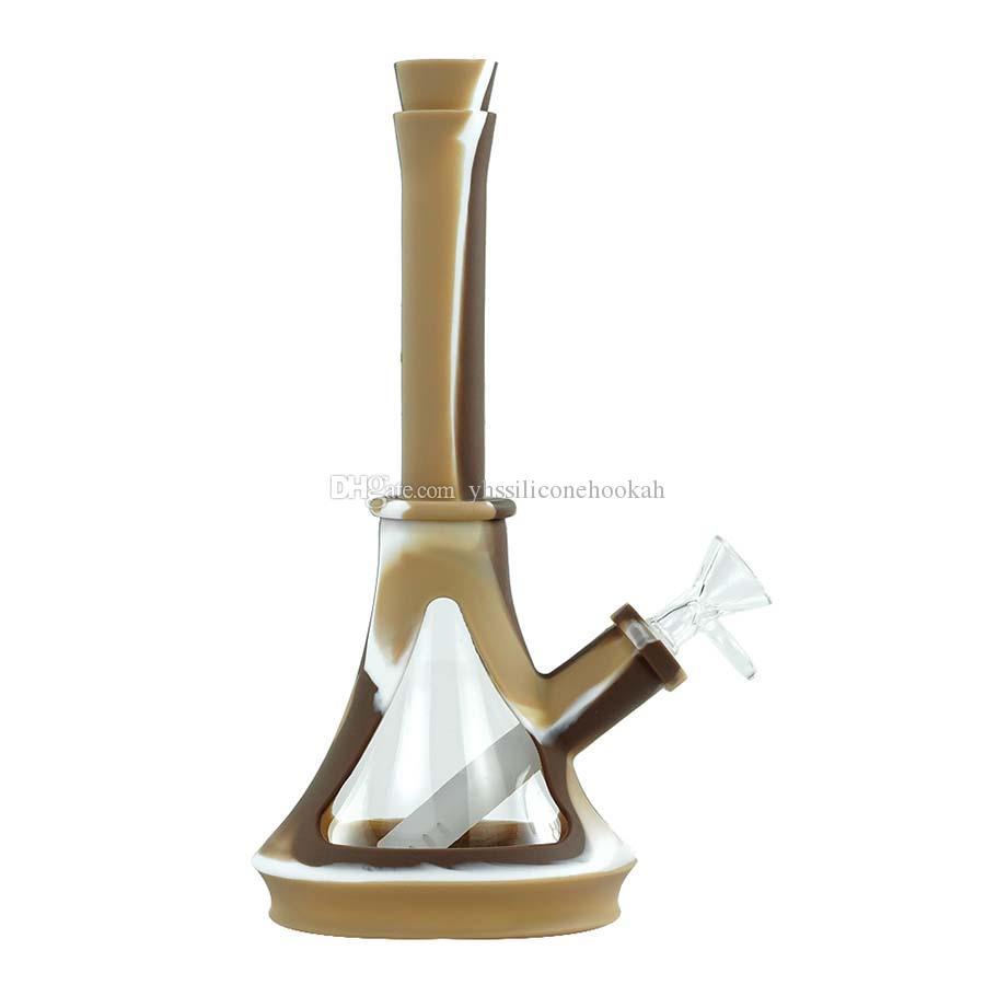 Novo design 10 '' vidro fumar água tubulação de tubulação de vidro BONG BONG PYREX Water Bongs Heady Water Tubulações Petróleo