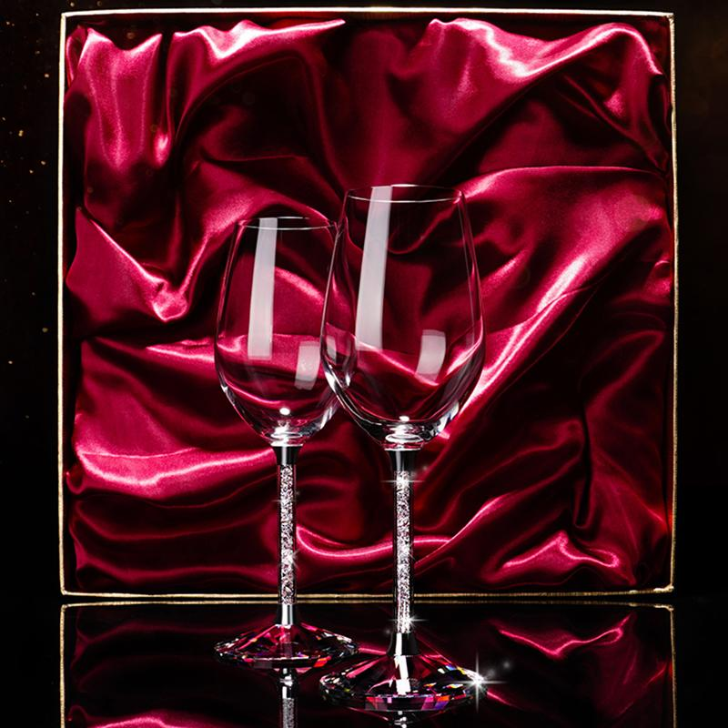 Custom Design high quality innovative DIY wine glass for wedding party lovers birthday gift goblet Fashion Crystal Glass Red Wine Goblet Cup