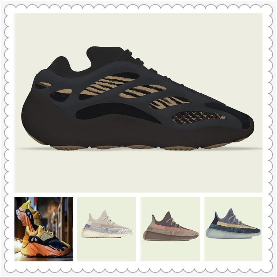 Mens Womens Sports Shoes 2021 Kanye West Ash-Pearl Shoes ash-stone Sun Light Reflective Casual Sport Sneakers Christmas Shoe Size 36-48
