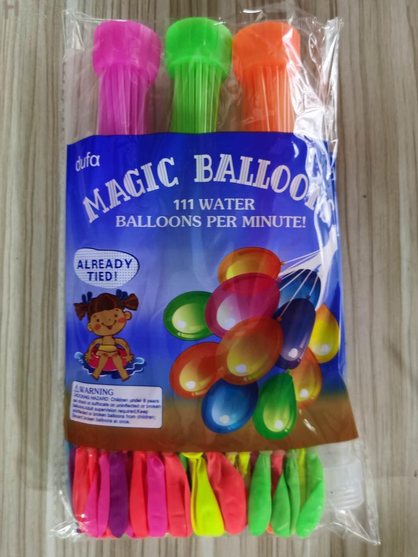 Yaz Açık Su Mücadele Su Balonu Çocuk Eğlence Oyuncak Çok Renkli Için Hem Erkek Ve Kız 1 Takım = 3Beam = 111 adet