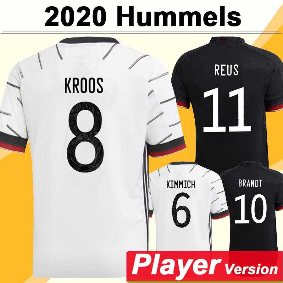 2020 Draxler Version Player Hummels Hummels Kroos Muller Chemise de football Nouvelle équipe nationale Werner Boateng Uniformes