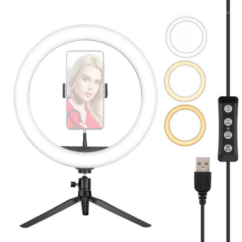 10 pollici Trucco Annular Lamp Lampada Anello Lampada video Selfie Ring Light con supporto per telefono per fotografia luce treppiede stand photo fotocamera1