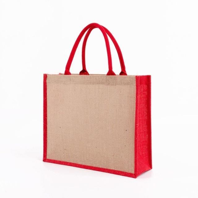 HH 2520 Tasche mit laminierter Innenbeutel Geschenk Baumwollgriff, Frauen einkaufen Einkaufsmittelladen, Sackleinen Soft Bag Frauen Handtasche Brautjungfer Bags PDNF